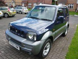 2007 (07 Reg) Suzuki Jimny 1.3 JLX PLUS Blue 3dr 4WD Estate Petrol Manual FSH 2 OWNERS