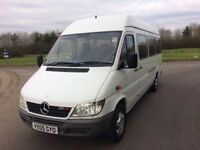 2005 mercedes benz sprinter*17 seater*minibus direct from lease company*NO VAT*
