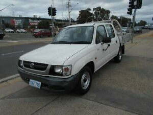 2004 Toyota Hilux RZN147R MY04 Workmate 4x2 White 5 Speed Manual Cab Chassis