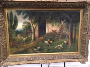 REDUCED TO SELL THIS LARGE OIL PAINTING(NO SHIPPING )