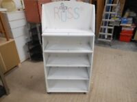 russ berry childrens 5 adjustable shelf display bookcase, teddy bear stand, excellent condition