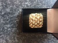 Gents 20 gram keeper ring, size u, 9ct solid yellow gold