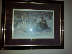 Trisha Romance- Evening Skaters signed, numbered and framed