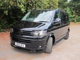 13/13 VW Transporter T5 T30 140BHP Kombi Black Edition 73K NO VAT Tailgate
