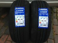 2x 205 55 16 w rated M+S landsail tyres brand new