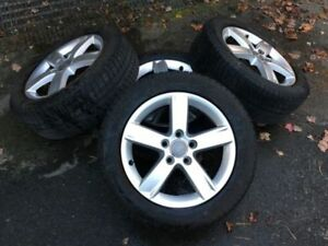 audi a3 winter wheels 205/55r16 x-ice michelin genuine audi rims