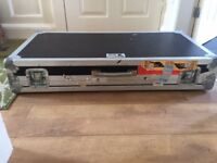 Large Guitar Effects Pedal Board Flight Case - *Removable Lid* - NSP - BUILT LIKE A TANK!!