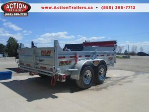 IN STOCK - DURABLE HD GALVANIZED DUMP TRAILER - 6X12 5TON!