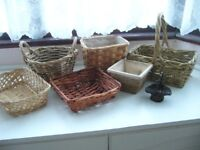 several small wicker cane baskets - £5 the lot Southbourne