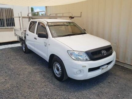 2009 Toyota Hilux TGN16R Workmate White Manual Utility