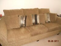 Large 8ft perfect medium brown fabric sofa