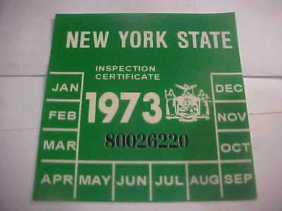 new york 1973 inspection sticker windshild