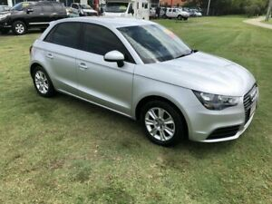 2012 Audi A1 8X MY12 Ambition Sportback S Tronic Silver 7 Speed Sports Automatic Dual Clutch Kippa-ring Redcliffe Area Preview
