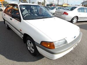 1992 Ford Laser KH GL White 3 Speed Automatic Hatchback Enfield Port Adelaide Area Preview
