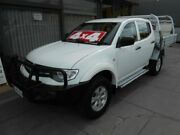 2013 Mitsubishi Triton MN MY14 GLX (4x4) White 4 Speed Automatic 4x4 Double Cab Utility West Hindmarsh Charles Sturt Area Preview