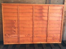 Larch Heavy Duty Overlap Fencing Panels