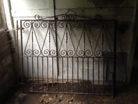 Wrought iron garden gates, blacksmith made and heavy