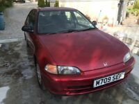 For sale, spares or repairs, Honda Civic LS, still running, currently sorned due MOT failure