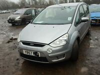 BREAKING FOR PARTS FORD S-MAX ZETEC 2008 2.0 TDCI 6 SP MANUAL IN MACHINE SILVER