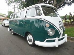 1967 Volkswagen Kombi SPLIT WINDOW 13 WINDOWS Green 4 Speed Manual MICROBUS Concord Canada Bay Area Preview