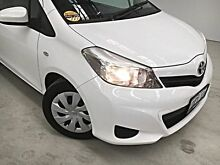 2011 Toyota Yaris NCP130R YR White 4 Speed Automatic Hatchback Edgewater Joondalup Area Preview