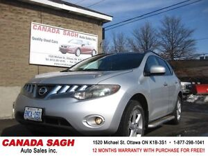 2009 Nissan Murano 4WD, ROOF, LOADED, 12M.WRTY+SAFETY $8990