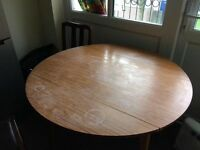Foldable Dinning table with chairs