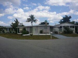 Maison mobile double a louer fort Lauderdale floride