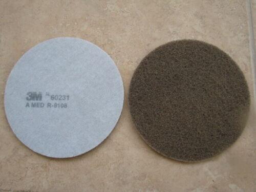 five+pads+---3m+Scotch+Brite+Discs+152mm+X+5+Discs+part+number+60231+a+med+grade