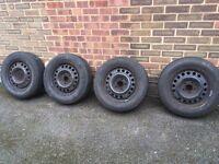 4 steel wheels - vauxhall zafira