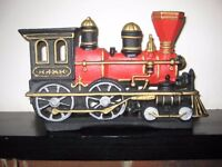 Lovely Heavy Cast Iron Door Stop In The Form Of A Steam Train. OFFERS WELCOME