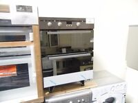 NEW GRADED STAINLESS STEEL INDESIT BUILT-UNDER DOUBLE OVEN REF: 13196