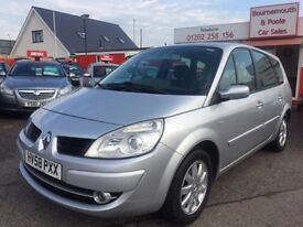 RENAULT GRAND SCENIC 7 SEATER 1.6 DYNAMIQUE VVT LOW MILES (silver) 2008