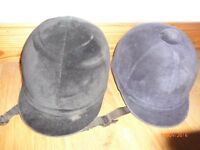 2 RIDING HATS (BLACK AND NAVY)
