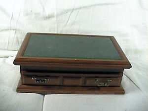 vintage montgomery ward jewelry box wondercraft marble top