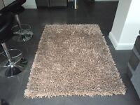 Silver metallic rug