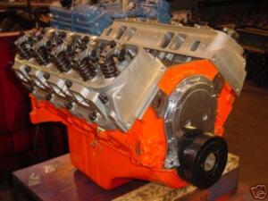 CHEVY CHEVROLET BBC STROKER 496 454 509 REBUILT ENGINE 515HP oval port 540 572