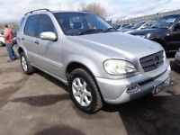 2002 02 reg mercedes ml 270 cdi diesel auto mot 1 year 7 seater ex we 4x4 £2195