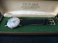 VINTAGE MENS (EXCALIBER) 9CT SOLID GOLD WATCH