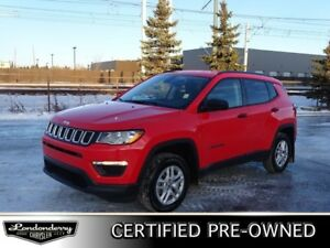 2018 Jeep Compass 4WD SPORT PLUS Accident Free,  Heated Seats,