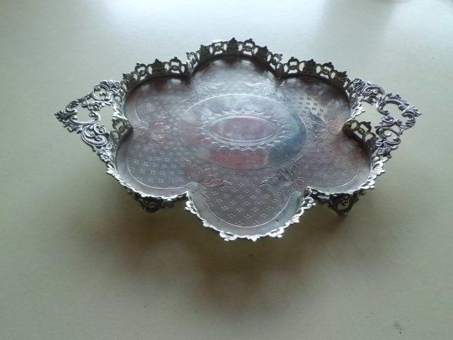 Antique Portugal Portuguese Silver Tray