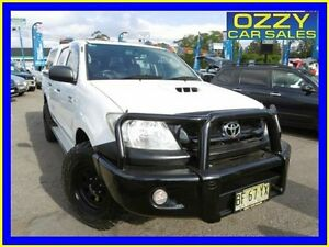2010 Toyota Hilux KUN26R 09 Upgrade SR (4x4) White 5 Speed Manual Dual Cab Pick-up Penrith Penrith Area Preview