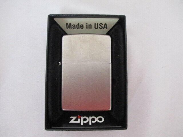 Genuine Zippo Lighter Reg Satin Chrome - New
