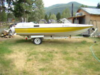 reinell 18 foot boat for trade or swap