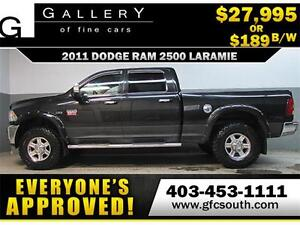 2011 DODGE RAM 2500 LIFTED *EVERYONE APPROVED* $0 DOWN $189/BW!