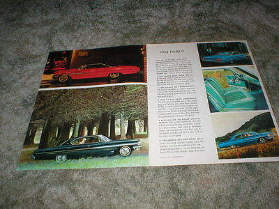 1964 FORD Total Performance Cars Brochure : Falcon  Fairlane  Ford  Thunderbird