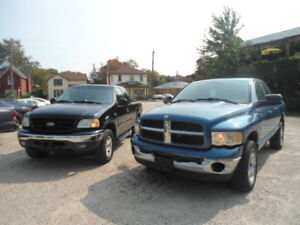 WOW 4X4 CERT 3MTH WARRANTY...TWO 4X4'S DODGE,F150 TO CHOOSE FROM