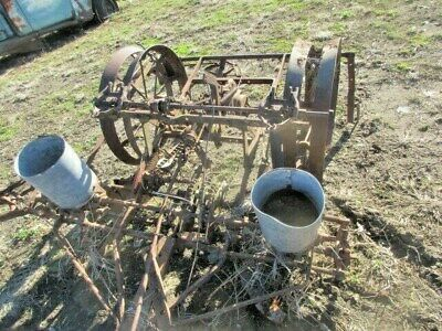 2 - Two Row Horse Drawn Steel Wheel Planters Parts Only - Yard Art