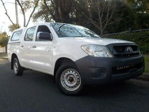 2009 Toyota Hilux TGN16R 08 Upgrade Workmate White 5 Speed Manual Dual Cab Pick-up Manningham Port Adelaide Area Preview