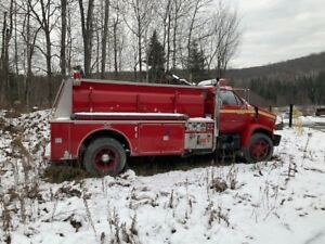 1990 GMC C6V Red Firetruck - AS IS [No Motor]